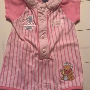 0-3 mo pink Pooh outfit